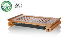 Gelehrter* bambus gongfu teetisch serviertablett 38*22cm