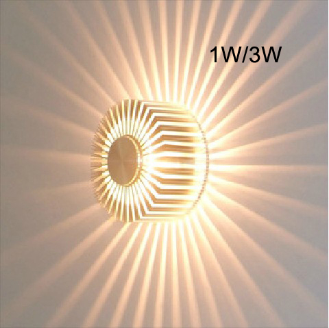 3W Contemporary Led Wall Light With Scattering Light Design UFO Round  Palisade Body Sconces Modern Decor