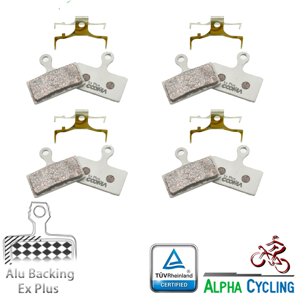 Bicycle Disc Brake Pads For Shimano XT, M785, M965, M615, SLX, Deore, R785, RS785, CX77, R517 Disc Brake, Aluminum Back, 4 Pairs
