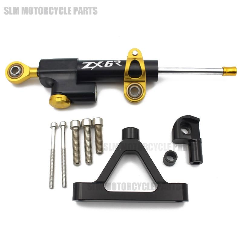 Motorcycle Steering Damper Stabilizer & Bracket For KAWASAKI ZX6R ZX-6R 2007 2008 07 08