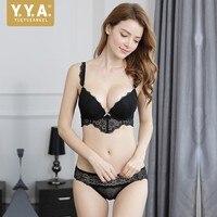 2019 New Arrival Breathable Female Underwear Set Lace Underwire Push Up Bra Set Comfortable Convertible Straps Conjunto Lingerie
