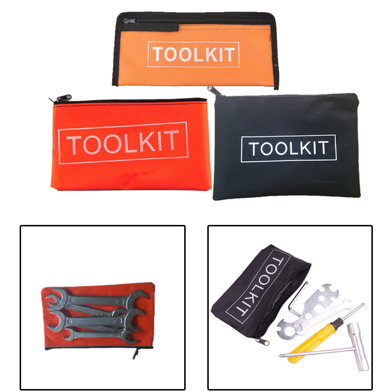 1pcs Oxford Cloth Waterproof Tool Pouch Zipper Bag Zipper Tool Kit Storage Bag Instrument Case Pouch Tool Kit Packaging Bag