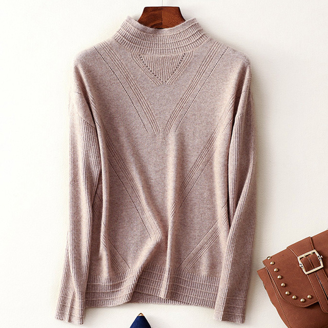 Menca Sheep Brand Women Sweater 100% Cashmere Knitwear Mandarin Collar  Pullovers Ladies Pure Cashmere sweater Standard Knitwear 62e71ff122a6