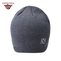 High Quality Custom Beanies For Mens Boys Hat Winter Solid Color Embroidery Caps Adult Casual Striped