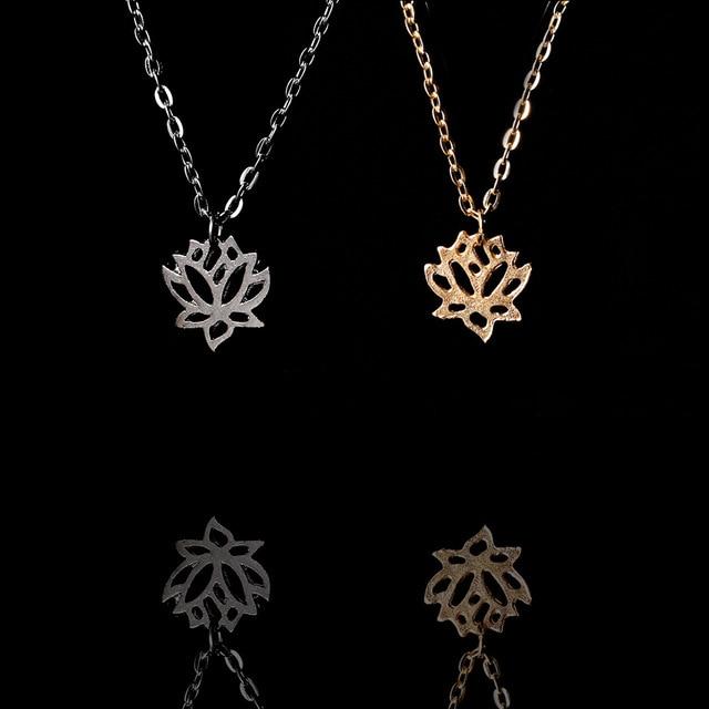 Shunyun wholesale 10pcs plant lotus necklace tiny lotus flower shunyun wholesale 10pcs plant lotus necklace tiny lotus flower necklace goldsilver pendants trendy jewelry audiocablefo