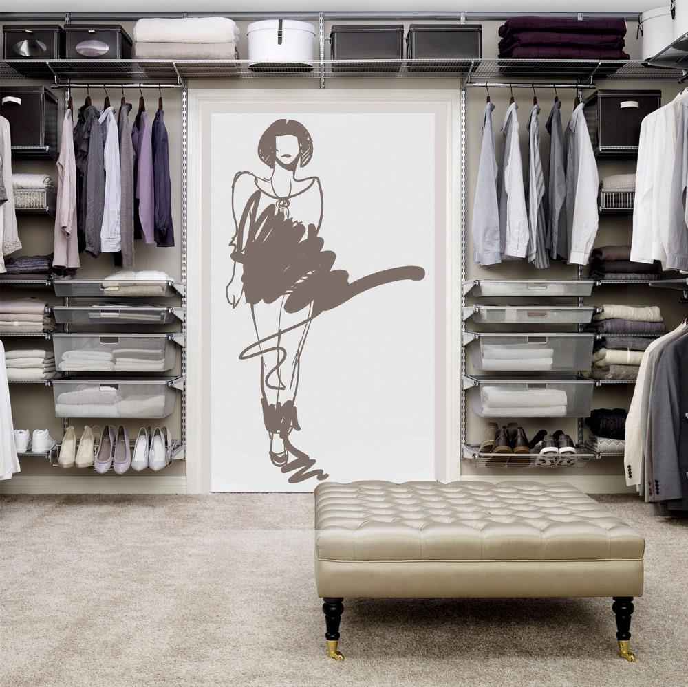 Wall Decal Sticker Interior Girl Shop Showcase Cupboard Dressing Room  22x35inch