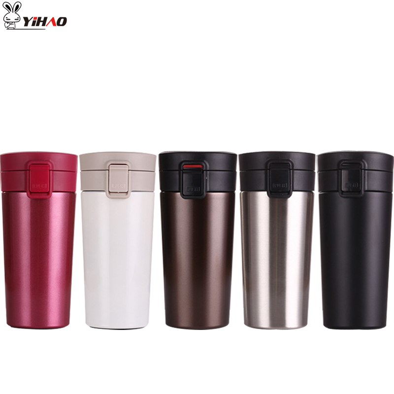 YIHAO 380ML High Quality Hot Sale 304 Stainless Steel Inner copper-plated Vacuum Flasks Cup High-end car cup