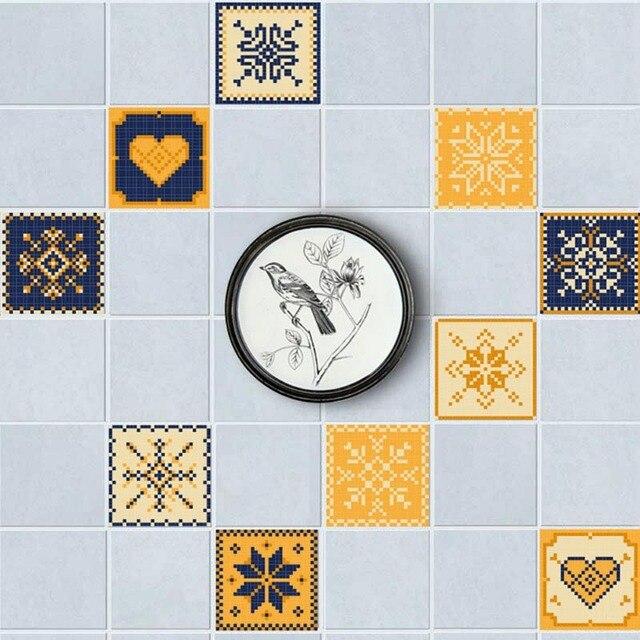 20 Pcs Set Waterproof Pvc Diy Mosaic Wall Tiles Stickers Waist Line Sticker Kitchen