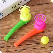 Magiczne pływające Ball Game Kids Gift Toys Kids Party Favor Blow Pipe Balls Pinata Toy Party Loot Bag Wypełniacze Birthday Party Game