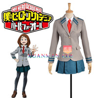 W0959 1 My Hero Academia/Boku no Hero Academia Uraraka Ochako Cosplay Costume School Uniform Jacket Mini Skirt Custom Made