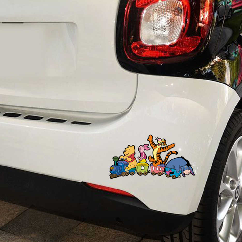 Aliauto автомобиль-Стайлинг м/ф Винни-Пуха и вождения поезда и его младшего партнера забавные Стикеры для автомобиля наклейки с персонажами из мультфильмов для Renault VW Skoda Opel Toyota