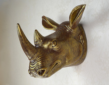 Настенный Африканский носорог глава трофей стены искусства доска охоты скульптура-искусственного таксидермия современная висячие home decor