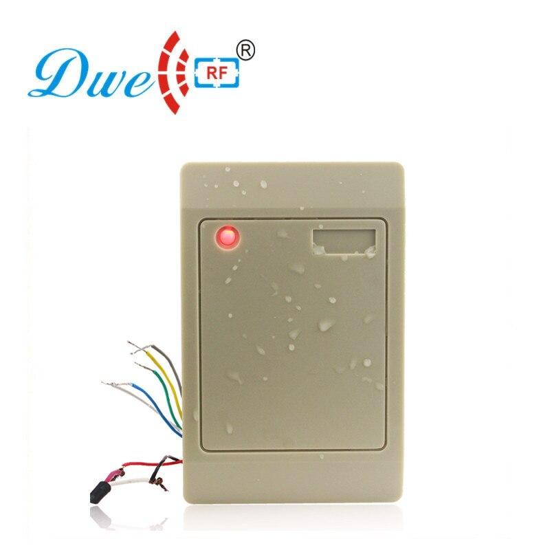 Купить с кэшбэком DWE CC RF Control Card Readers DC12V ISO1443A MF weigand 26 wiegand 34 passive door access control rfid reader