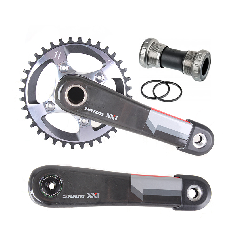 SRAM FC XX1 Q156 GXP 24mm 34T 170mm Carbon Arm MTB Bicycle Crankset with GXP Bottom Bracket RED Logo sram xx1 x9 xo gxp bb30
