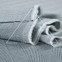 Japão de lã elástico spandex tecido, Padrão de espinha de peixe, Marinha - branco, Sew para top, Pant, Ofício pelo estaleiro