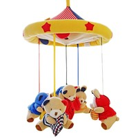SHILOH Crib Mobile Infant Baby Play Toys Animal Bed Bell Toy Mobile Cute Lovely Electric Baby Music Educational Toys 60 Songs