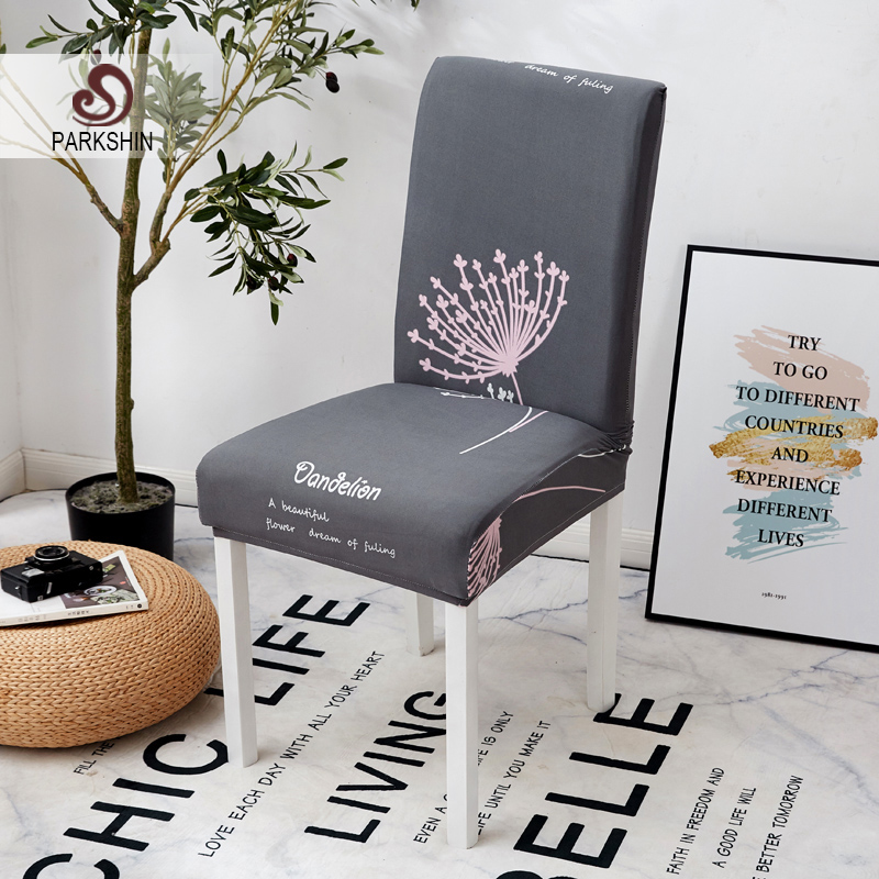 Parkshin Fashion Chair Covers Modern Kitchen Seat Case Wedding Chair Covers Spandex Elastic Floral Print For Dining Room-in Chair Cover from Home & Garden