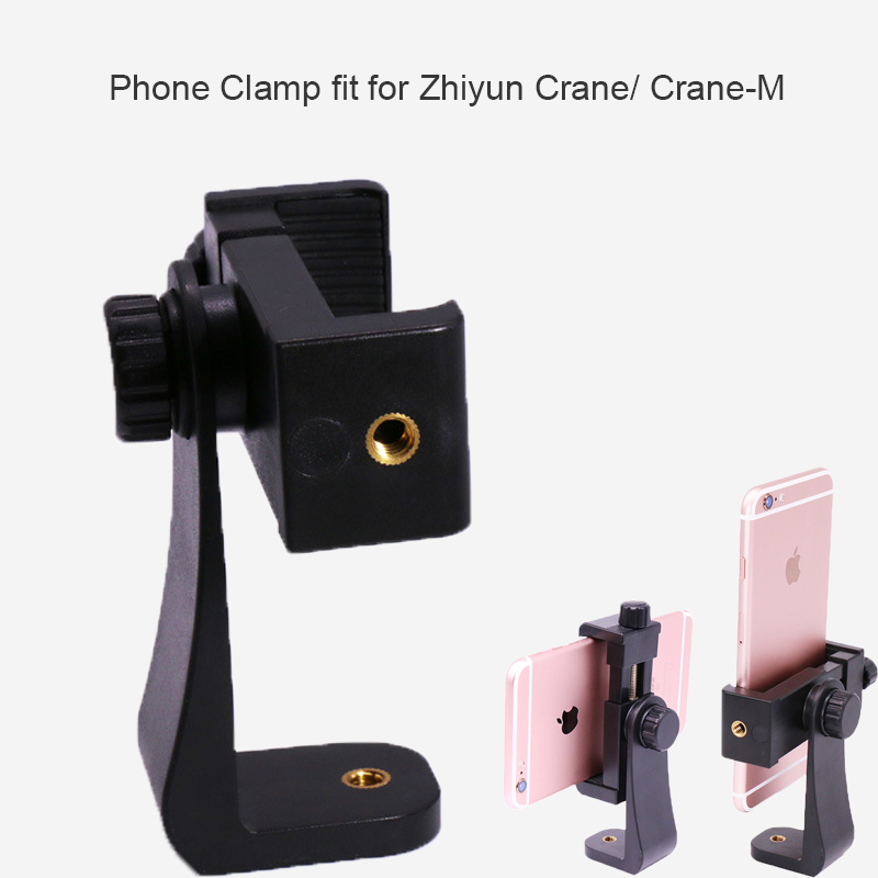 360 Degree Rotation Phone Clamp Holder Stand Clip Adapter with 1/4 screw for iPhone Samsung Huawei Smartphone mirrorless camera