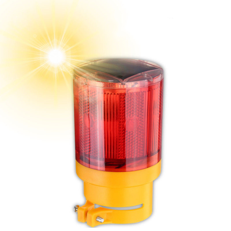 2Pcs/Lot Car Solar Power LED Strobe Warning Light Security Flashing Flicker Beacon Road Lamp -- WWO66