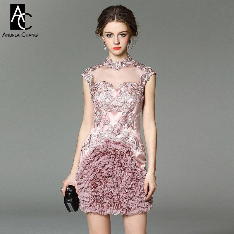 50514fa2fa Wiosna lato projektant runway kobiety dress red beżowy lawendy jedwabiu  zdarzeń dress wysokiej jakości luksusowe marki