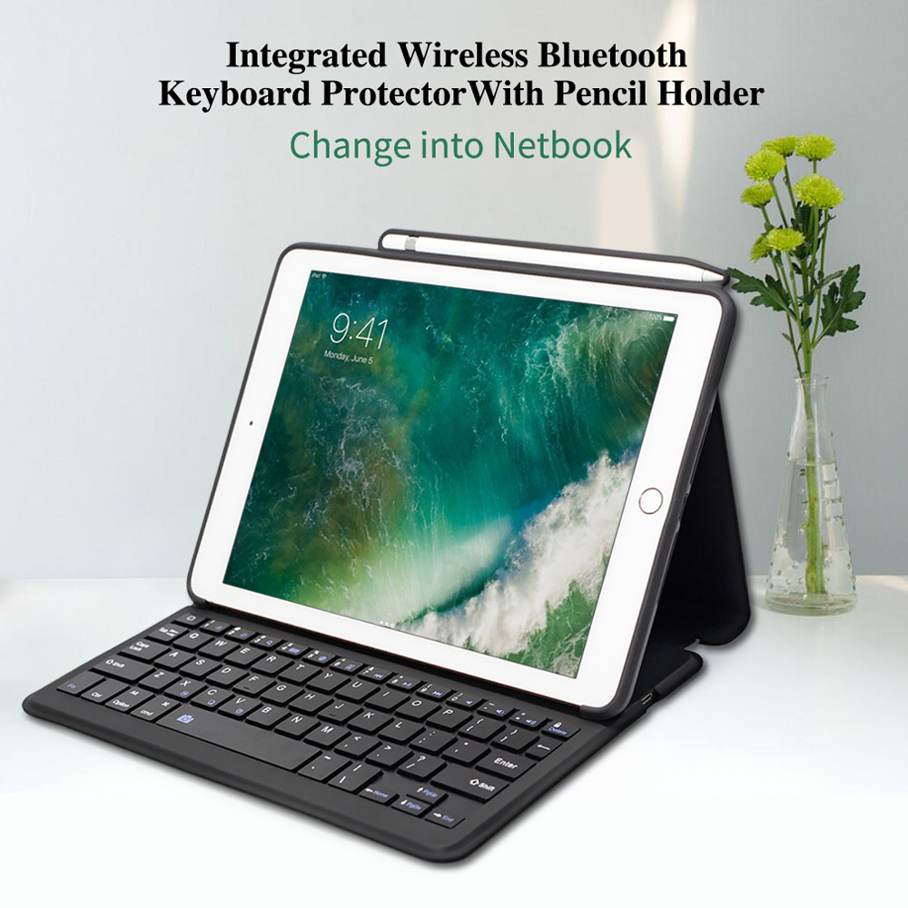 a30b44c098a WOWCASE Wireless Keyboard Case Cover For iPad 2018 9.7/11/12.9 Multiple  Folio Stand For iPad 2018 Case Pencil Holder Charging -in Tablets & e-Books  Case ...