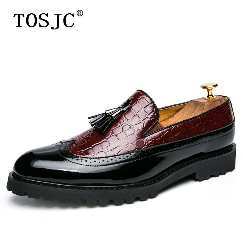 Mens Patent Leather Slip On Tassel Slippers Closed Toe Breathable Mules Shoes Sz