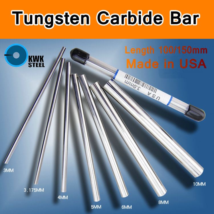 Tungsten Steel Bar Tungsten SCS Made in USA Carbide Supreme Carbide Offeror Rod Rods DIY Mould CNC Round Bar Length 100mm 150mm худи print bar made in 1981
