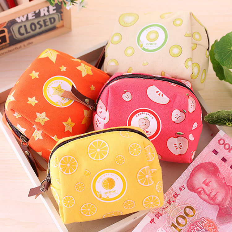 XYDYY Casual Women Coin Purses Octagon Watermelon Lemon Fruit Children Purse Pouch Bag Female Zipper Coin Purse Wallet Handbag спортивный инвентарь djeco игра резиночка зайчик page 1