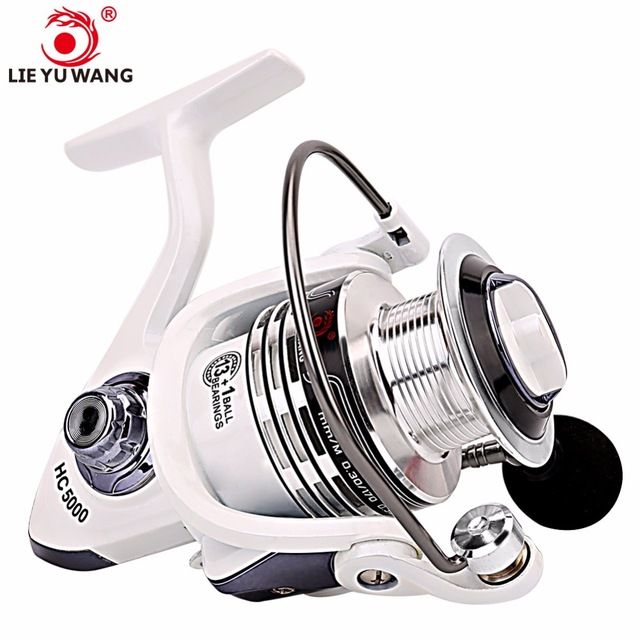 LIEYUWANG Spinning Fishing Reel 13+1BB Ball Bearings Left/Right Handle Aluminum Spool 5.2:1 Carp Fishing Spinner For Fishing