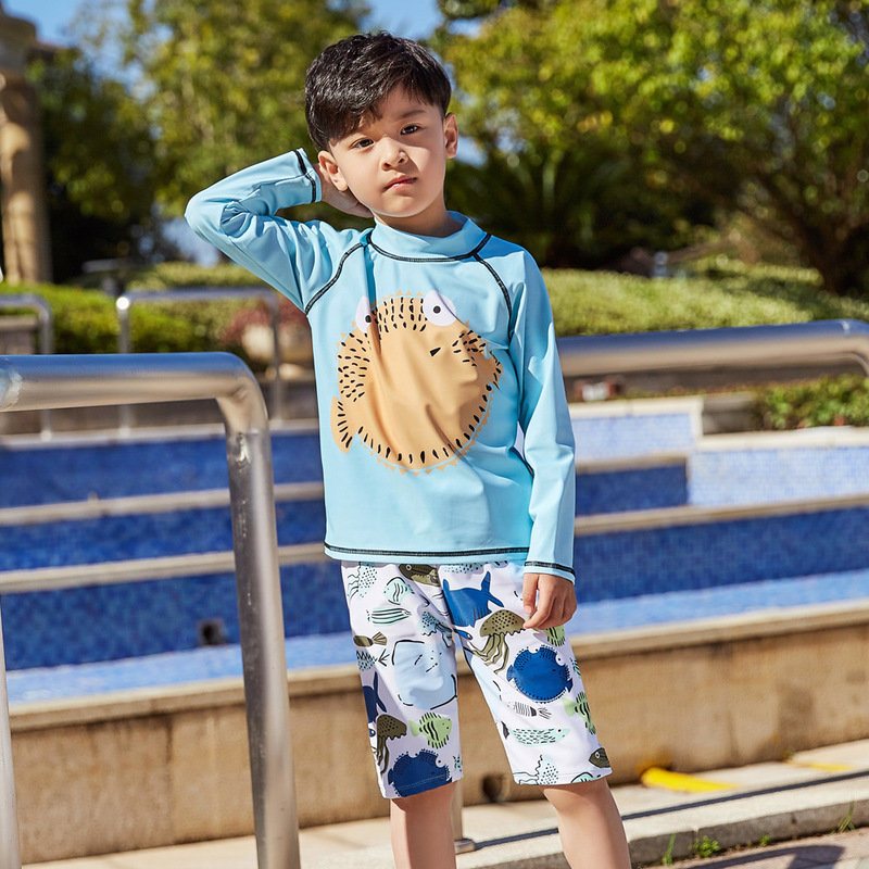 Swimsuit Children's Boy Kids Baby Bikini Swimwear For Children Clothes Rash Guard 2019 Animal Polyester FMZXG Kid's
