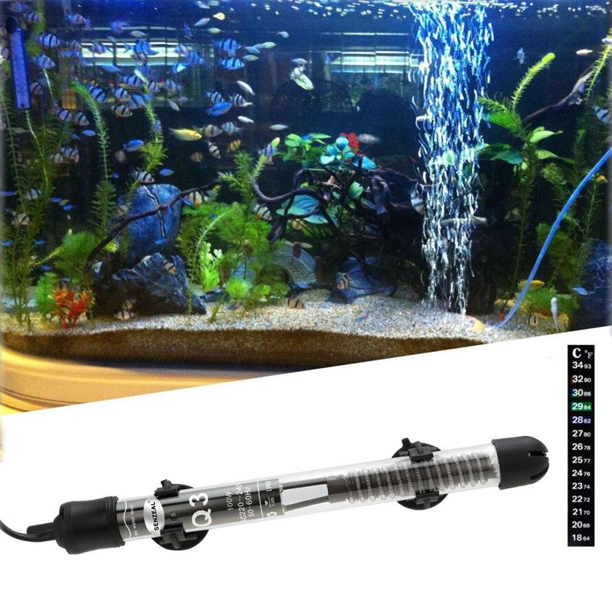 Senzeal Submersible 50W/100W/200W/300W Aquarium Heater Fish Tank Heating Rod for Temperature Adjustment