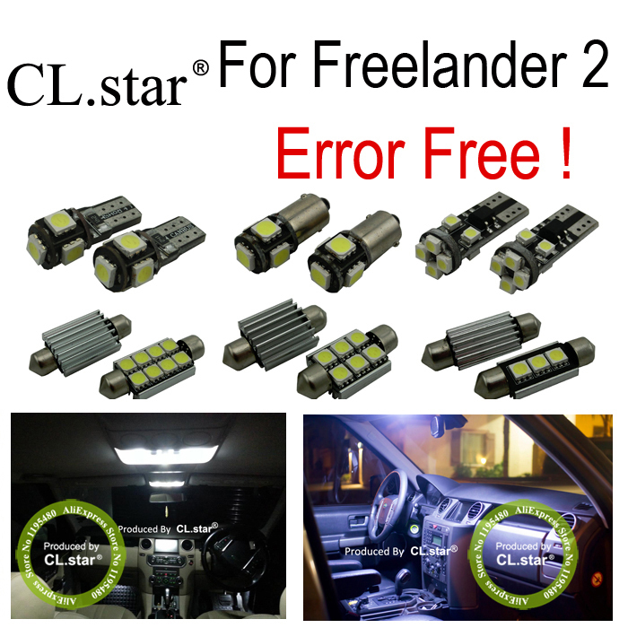 17pc nice canbus error free interior led light dome bulb side light for Freelander 2 LR2 (2006-2013) 18pc canbus error free reading led bulb interior dome light kit package for audi a7 s7 rs7 sportback 2012