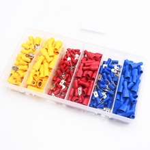 240pcs/lot  Female Male Electrical & Wiring Connector Insulated Crimp Terminal Spade Set Red Blue Yellow цена