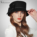 Sedancasesa Europe American Sombreros Women 100% Australian Wool Cloche Fedora Hats for Women Winter Autumn Derby Hat FW091003B
