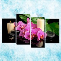 4 Pieces ZEN Stone Bamboo Buddhism Art Canvas Poster 24x36 Inch For Living Room 007