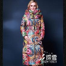Большие размеры 5XL 2016 Зимняя куртка пуховые куртки для девочек модные пуховик Для женщин верхняя одежда пуховик тонкий утолщение X-длинные пальто