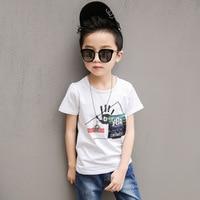 Unisex Fashion Children Hand Graffiti Printed Boys T Shirts Kids Boys Girls Summer Short Sleeved T