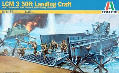ФОТО Out of print! Italeri Model Kit - LCM 3 50ft Landing Craft With Soldiers - 1:35 Scale - 6436