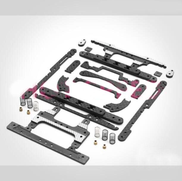 MS châssis mise à niveau pièces ensemble pour 1/32 échelle Tamiya Mini 4WD modèle de voiture de course avec ressort avant/arrière rouleau séjour support de levage