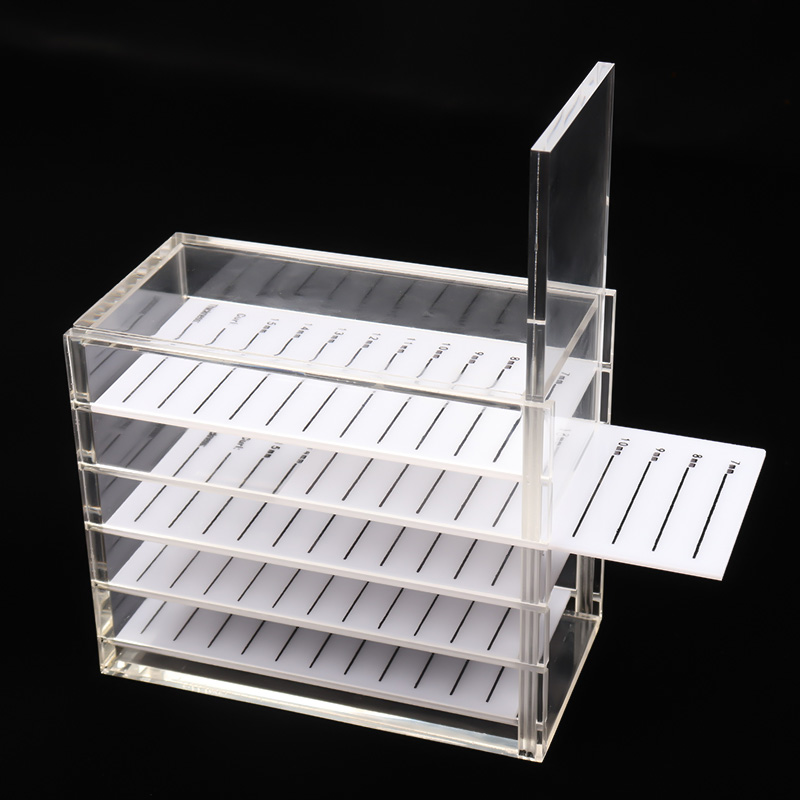 09eb8c92b7e 5 Layers False Eyelash Storage Box Acrylic Pallet Lashes Individual lash  Holder Case Volume Display Stand Container Makeup Tools-in False Eyelashes  from ...