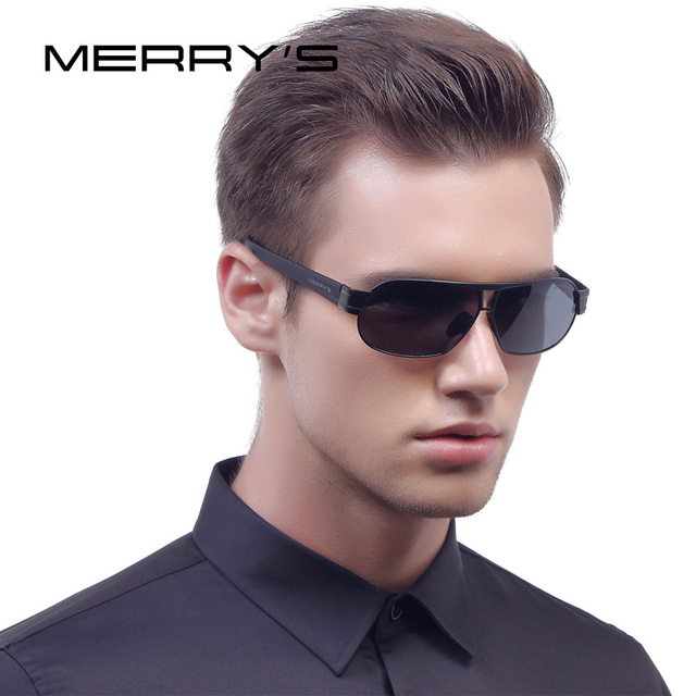 MERRY'S Classic Brand Sunglasses Men Luxury Aluminum Polarized Sunglasses EMI Defending Coating Lens Male Driving Shades S'8506
