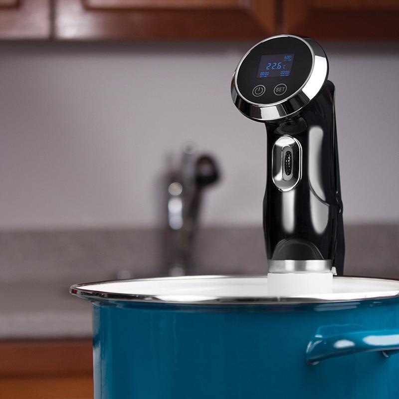 Sous Vide вакуумная Мультиварка 1500 Вт Мощный погружной циркулятор-ЖК-дисплей с цифровым таймером из нержавеющей стали