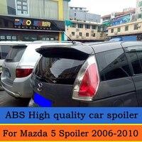 For Mazda 5 Spoiler 2006 2007 2008 2009 2010 Mazda5 High Quality ABS Material Car Rear Wing Primer Color Rear Spoiler
