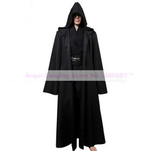Star Wars Cosplay Costume Jedi Super Deluxe Hoody Robe  Adult Warrior Costume free shipping
