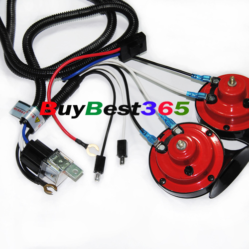 SUPER TONE HORN WIRING HARNESS KIT Controller 12V RELAY 31A ... on