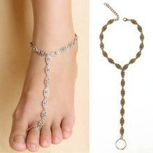Women Retro Hollow Flower Toe Ankle Chain Sandal Bracelet Anklet Foot Jewelry 74KS