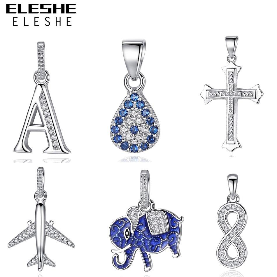 ELESHE Necklace Women 925 Austrian Crystal Pendant Luxury Brand Lucky Eye Infinity Love Necklaces & Pendants Jewelry