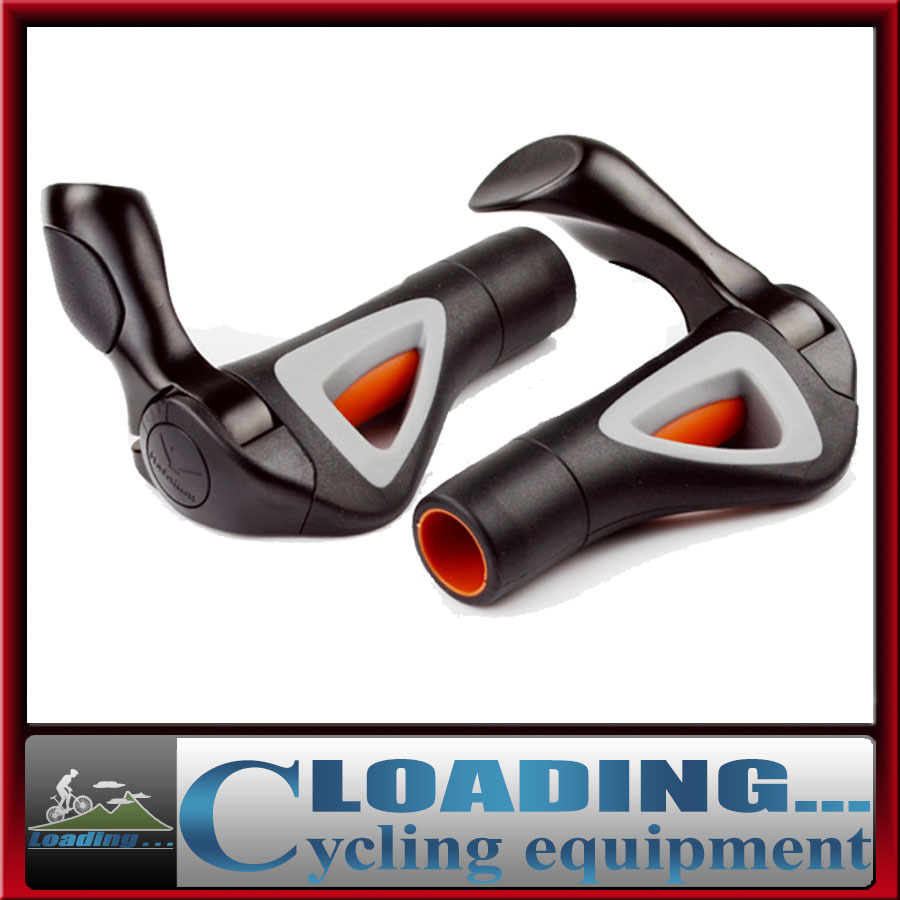2017 New bike bicycle cycling handlebar grips with ox horn bar ends lock-on hollow for pro long distance aluminum rubber black ergonomic multi position cycling grips bicycle bar end handlebar pair