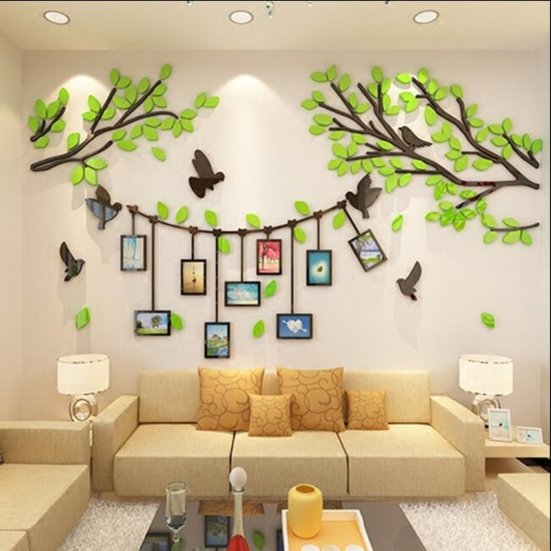 3D stereo acrylic wall sticker photo living room TV background wall decoration bedroom warm wall stickers