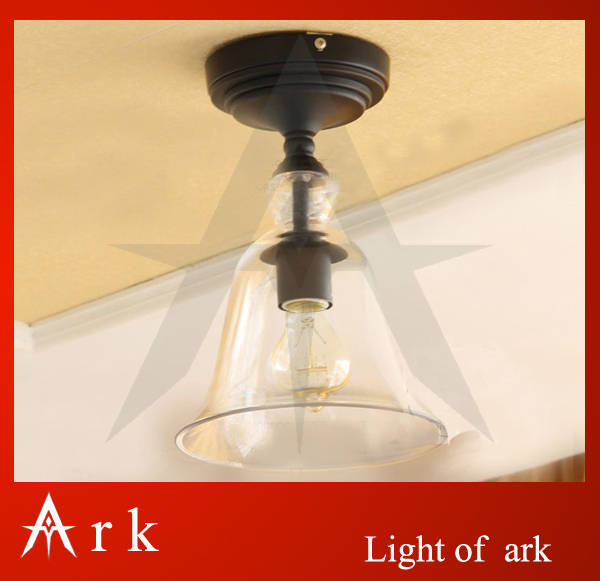 ARK LIGHT Rustic CLEAR Glass BELL  Antique American style light brief vintage reminisced classical ceiling lamp ultrafire wf 501b xm lt6 1 mode 510 lumen white led flashlight with strap 1 18650